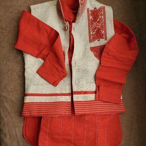 Indian 3 piece ethnic wear - Kurta, pajama, jacket